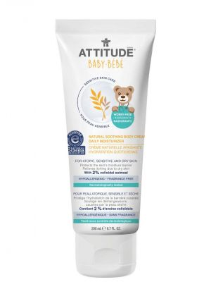 Attitude Sensitive Skin Care, BABY Soothing Body Cream - Fragrance Free