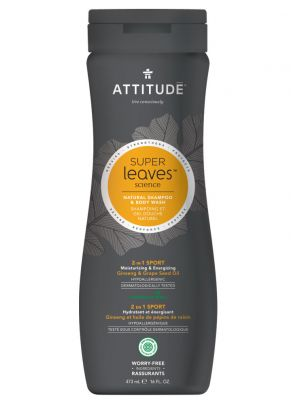 Attitude Super Leaves Science, MEN 2in1 Shampoo & Bodywash - Sports