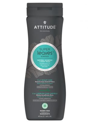 Attitude Super Leaves Science, MEN 2in1 Shampoo & Bodywash - Scalp Care