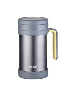 Thermos Mug With Handler And Strainer Grey | TCMF-500-GR