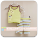 Mom And Bab Muscle Tee Set - Giraffe Olive