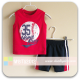 Mom And Bab Sport Tee Set - Red/Mesh