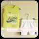 Mom And Bab Sport Tee Set - Lime/Mesh