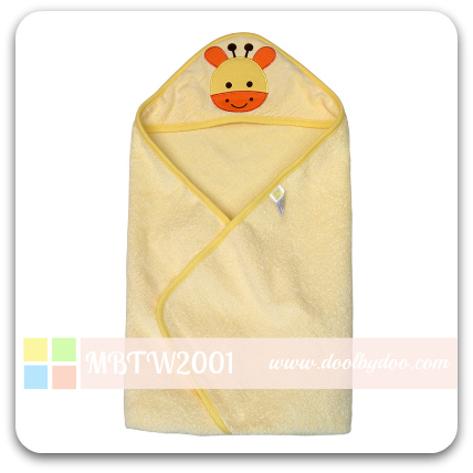 Animal Hooded Towel - Yellow