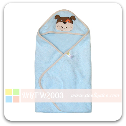 Animal Hooded Towel - Blue